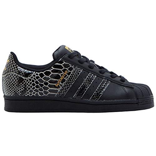 Adidas Originals Superstar Jungen Sneaker, - Schwarz Schwarz Gold Metallic - Größe: 42 EU