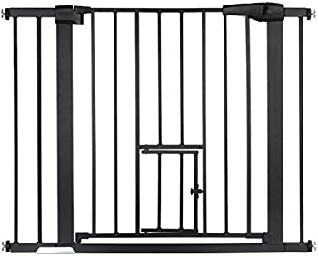 Kingso Durable Extra Wide Easy Walk Thru Baby Gate