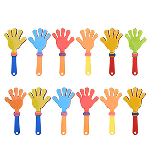 Gadpiparty 12 Piezas de Claquetas de Mano de Colores Al Azar Fiesta de Ruido Favorece a Los Niños Juguetes para Realizar Juegos de Concierto