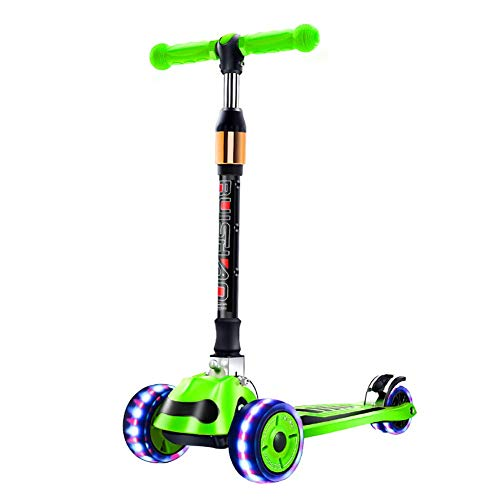 PLLP Outdoor Sports Scooter Kick,Adjustable Toddler with Pu Lighted Wheel, Folding Kick, 100 Kg Capacity, Wide Pedal Foot Brake, Best Gift for Kids Aged 2-14Yr Old Adult Child Toy Balance Car Mini,G