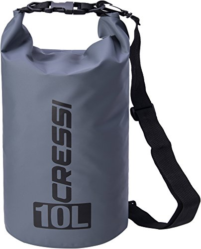 Cressi Dry Bag Mochila Impermeable para Actividades Deportivas, Unisex Adulto, Gris, 10 L