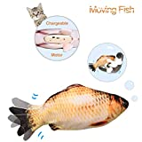 Leven Moving Fish Cat Toy, Electric Cat Kicker Toy, Realistic Flopping Fish Simulation, Wiggle Fish Catnip Toys, Motion Activated Kitten Toy, Plush Interactive Cat Toys, Kitty Toy for Cat Exercise