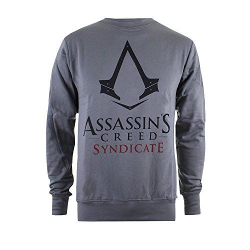 ICONIC COLLECTION - ASSASSINS CREED Sweatshirt Syndicate - Logo dunkelgrau S