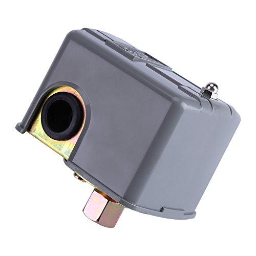 Fydun Interruptor de la bomba de agua del hogar sin torre Interruptor de control de presión de la bomba de agua Poste de doble resorte ajustable