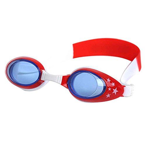 Idyandyans Kinder-Jungen-Mädchen-weiche Silikon-Schwimmbrille Kids Safety Silikon Schwimmbrille Außen Brillen Anti-Fog wasserdichte Strand-Schwimmen-Gläser