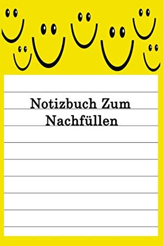 Notizbuch Zum Nachfüllen: Notizbuch 100 Seiten 6'' x 9'' (15,24cm x 22,86cm) DIN A5 Liniert