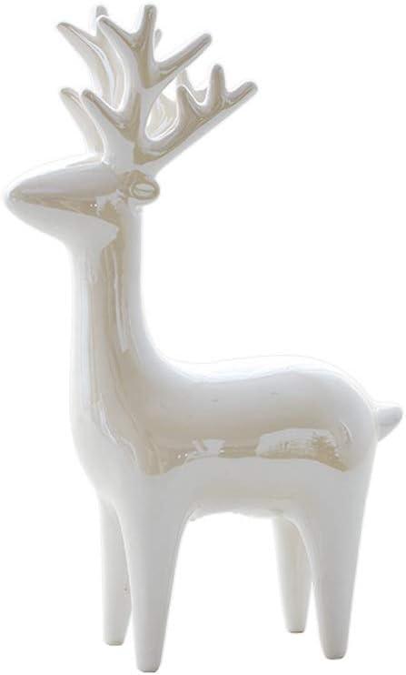 ZHJ Christmas Decoration Luxury goods Pearlescent Ceramic Tucson Mall Elk Mini