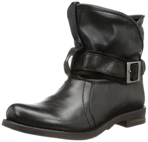 Buffalo London Damen 30238 GARDA SUEDE Biker Boots, Schwarz (PRETO 01), 40 EU
