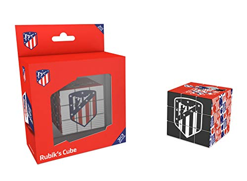 Kick Off 34810 - Cubo Rubik Atletico de Madrid, Multicolor, 5.7 cm
