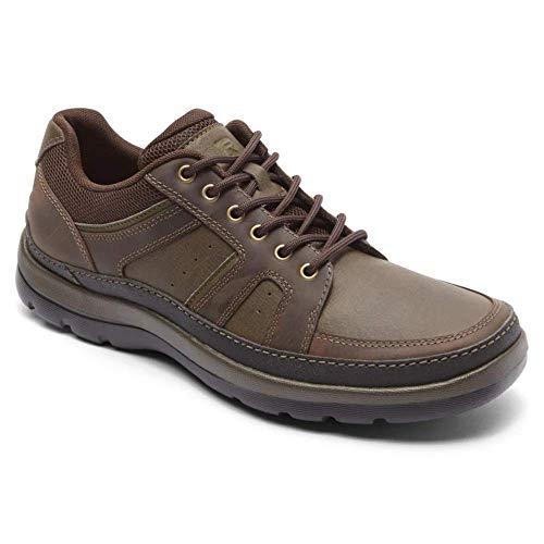 Rockport Men's Get Your Kicks Mudguard Blucher Oxford, dark brown leather, 11 M US