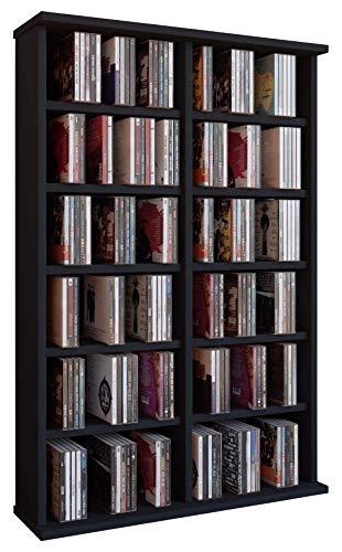 VCM 50441 Ronul Torretta CD/Dvd, 300 CD, Senza Anta in Vetro, Nero