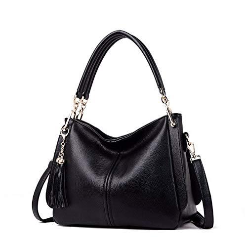 Djkaa Luxus Frauen Messenger Bags Frauen Handtaschen Designer Leder Umhängetasche Große Kapazität Tote Für Dame Umhängetaschen 31 * 25 * 13 cm, schwar.