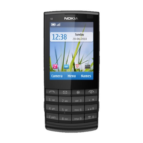 Nokia X3-02 Touch and Type, Telefono cellulare, QuadriBand, 3G+, Bluetooth, colore: Metallo scuro (Importato da Francia)