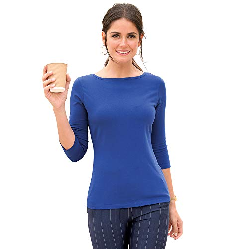 Camiseta Lisa Manga 3/4 Mujer - 112163