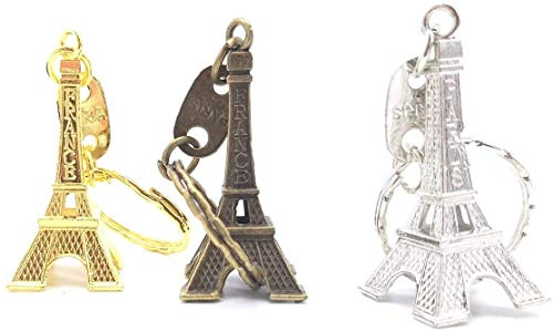 Combo de Tres Colores Llavero Torre Eiffel