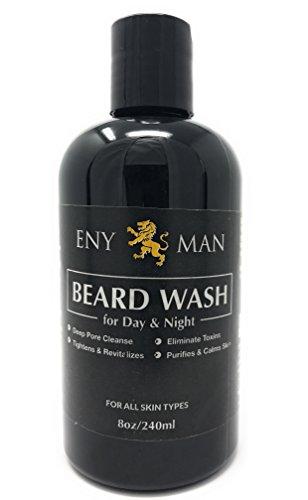 Limpia el cabello facial sin irritar la piel por debajo (8 Fl Oz/240ml) Premium todos los ingredientes naturales aceite de coco Jojoba girasol aceite y manteca de karité