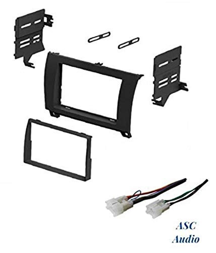ASC Car Stereo Dash Install Kit and Wire Harness for Installing an Aftermarket Double Din Radio for Some Toyota: 2008-2016 Sequoia and 2007-2013 Tundra - No Factory JBL/Premium Amp