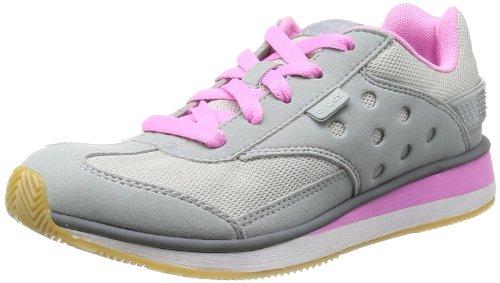 Crocs Damen Retro Sneaker Hausschuhe, Grau (Light Grey/Party Pink), 34-35