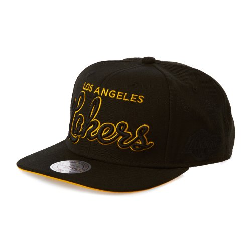 Mitchell & Ness - Casquette Snapback Homme Los Angeles Lakers Blackout Script