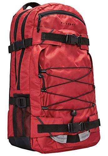 FORVERT Laptop Louis Unisex Backpack sportlich-lässiger Daypack,Rucksack mit 15 Zoll Laptopfach,3 weiteren Fächern,gepolstertes Rückenteil,red,one Size