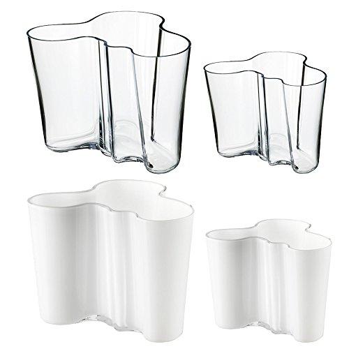 Iittala Alvar Aalto Vasen 2er-Set klar 160mm und 95mm