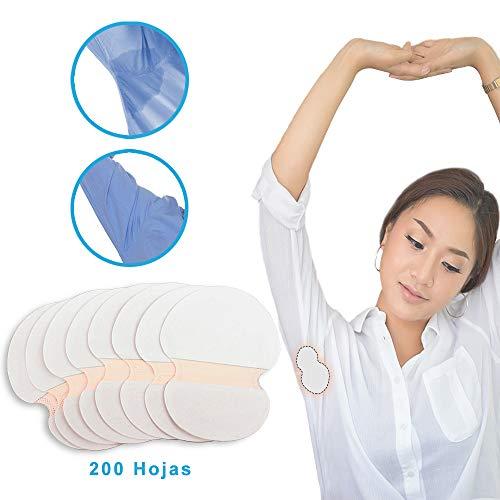 StillCool Almohadillas Absorbentes Suave 3.74 x 4.72 in, 200PZS Almohadillas Sudor Desechables y Cómodo, No Visibles Elimina Olor de Axilas para Mujeres Hombres y Niños - Blanco