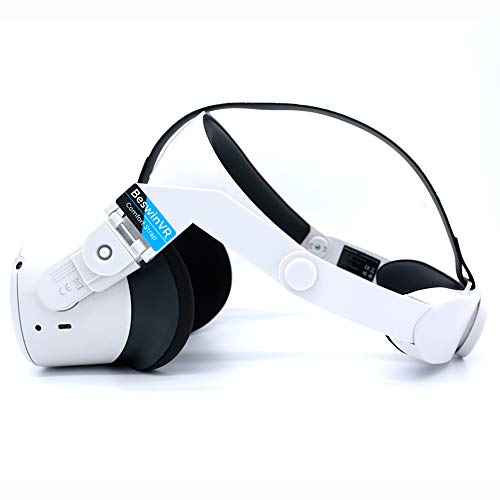 BeswinVR Halo Strap for Oculus Quest 2 and Quest 1- Virtual Reality Accessories- White