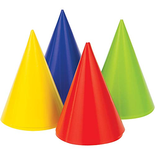 Best Deals! Creative Converting Party Foil Mini Cone hats, 4, Assorted