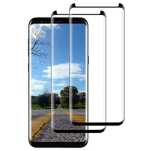 DOSNTO Verre Trempé Protection écran pour Samsung Galaxy Note 8 [2 Pièces], Zéro Bulle (Courbes 3D) Ultra Résistant, Anti Rayures, Indice Dureté 9H Film Protecteur D'écran pour Galaxy Note 8 (Noir)