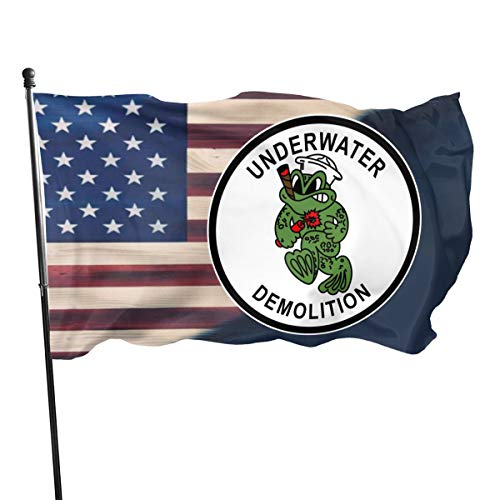 PINGqi UDT Navy Seal Outdoor Flags Home Flag Garden Flag Banner Breeze Flag 3