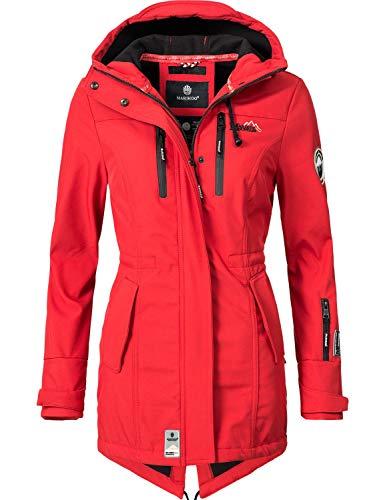 Marikoo Damen Softshell-Jacke Outdoorjacke Zimtzicke Rot Gr. L