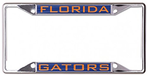 Florida Gators License Plate Frame, metal with inlaid acrylic, 4 mount holes