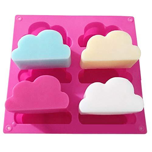 Molde de silicona con forma de nube de 6 agujeros de ,...