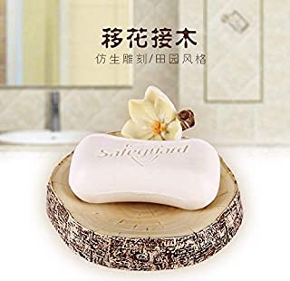 Elegant soap Box Soap Box Creative Resin Leachate Soap Dish,SSS (Color : Khaki)