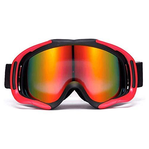 WCJ Skibrille UV-Schutz Anti-Fog Snow Goggles for Männer und Frauen Jugend-Doppel Anti-Nebel trägt Myopie Brille Berg großer Zylinder Ski Ausrüstung (Color : B)