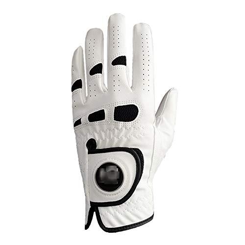 ZYQZYQ Herren Golfhandschuhe Linke Hand Mit Ballmarker Für Rechtshänder Allwetter Grip Fit Klein Mittel ML Groß XL Finger Ten,L-Left