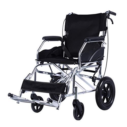 Transport Wheelchairs Self-propelled Wheelchair Elderly Travel Chair Disabled Senior Stroller Wheelchair Child Folding Wheelchair Portable Small Wheel Displacement Rehabilitation Crowd Best Gift Can B