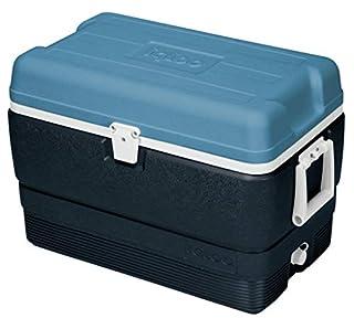 Igloo 49492 MaxCold Cooler, Jet Carbon/Ice Blue/White, 50 Quart (B010CRX6QK) | Amazon price tracker / tracking, Amazon price history charts, Amazon price watches, Amazon price drop alerts