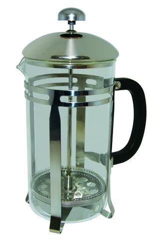 Barvinci 33 Oz (4 Cup) French Press Stainless Steel with Glass Caraffe
