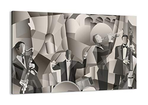 Cuadro sobre lienzo - Impresión de Imagen - jazz musica musico - 120x80cm - Imagen Impresión - Cuadros Decoracion - Impresión en lienzo - Cuadros Modernos - Lienzo Decorativo - AA120x80-4119