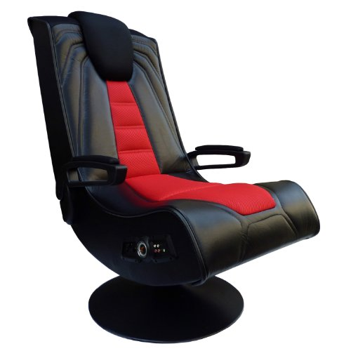 X Rocker Pedestal Extreme III 2.1 Sound Wireless Video Foldable Gaming Chair w/Pedestal Base and 2 Speaker High Tech Audio...