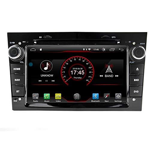 FWZJ Android 10 Car DVD GPS Car Radio Navi System Estéreo para 2004 2005 2006 2007 2008 2009 Opel Vauxhall Antana Astra Combo Corsa Meriva Tigra Vectra Vivaro Zafira Control del Volante Bluetooth
