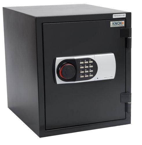 KNOXSAFE Fireknox 2 FK1602E Feuerschutztresor 60 min Feuerschutz für Papier USB-Stick DvD CD Schwarz 260 x 320 x 304mm
