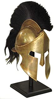King Spartan 300 Movie Helmet + Liner & Stand For Re-Enactment,Larp,Role Play