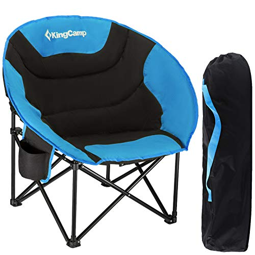 KingCamp MoonChair XL Camping Klapp Stuhl Falt Sessel Garten Angel Outdoor 120kg blau