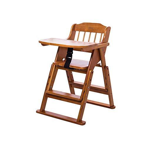 YQQ Chaise Multifonction pour Enfants Siège Enfant en Bois Massif Chaise Bébé Chaise Pliante Portable Table De Bébé Ceinture De Sécurité