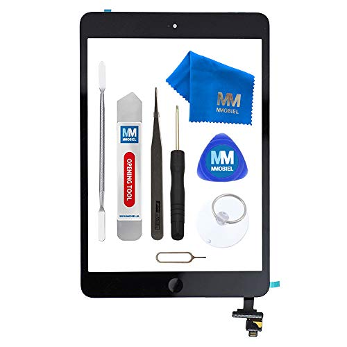 MMOBIEL Digitizer kompatibel mit iPad Mini 1/2 (Schwarz) 7.9 Inch 2012/13 Touchscreen Front Display inkl IC Chip und Werkzeug