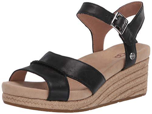 UGG Damen Berryessa Keilabsatz-Sandale, schwarz