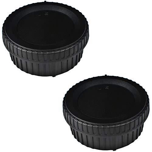 VKO Objektiv-Rückdeckel und Kamera-Gehäusedeckel geeignet für Nikon D5600 D5500 D500 D5 D750 D700 D850 D7500 D7200 D7100 D610 D3500 D3400 D3300 D3200 D5200 D5300 Und F Mount Objektiv (2 Sätze)