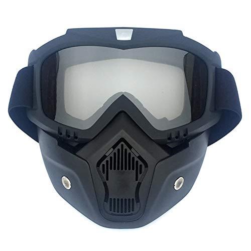 Gafas de Moto Harley Unisex con Marco elástico, Lente reemplazable Gafas de Motocross antideslumbrantes Máscara a Prueba de Viento Gafas de Moto Antipolvo para Exteriores